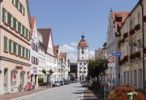 Thumbnail Koenigstrasse street with Mitteltorturm gate tower, Dillingen an der Donau, Donauried region, Swabia, Bavaria, Germany, Europe
