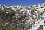 Thumbnail view of the village of Thira which is built at the edge of the caldera, Firostefani, Santorini, Greece