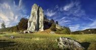 Thumbnail Climbers' paradise and nature adventure Burgsteinfelsen, rock formation, Altmuehltal, near Dollnstein, Bavaria, Germany, Europe