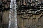 Thumbnail Waterfall with basalt columns in Skaftafell National Park, Iceland, Europe