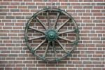 Thumbnail Cart wheel on a clinker brick facade in East Friesland, Lower Saxony, Germany, Europe