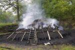 Thumbnail Burning charcoal pile in the final stage, Walpersdorf, Siegen-Wittgenstein district, North Rhine-Westphalia, Germany, Europe