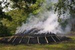 Thumbnail Mound of burning charcoal, Walpersdorf, Siegen-Wittgenstein district, North Rhine-Westphalia, Germany, Europe