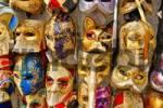 Thumbnail venetian masks for karneval, Venice, Italy