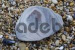 Thumbnail slate stone and pebbles on the beach at Slapton Sands South Devon England