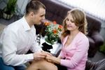 Thumbnail Young couple with engagement ring