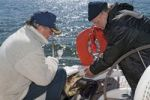 Thumbnail Deep-sea fishermen with a freshly caught pike, Baltic Sea, Germany, Europe