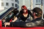 Thumbnail Young couple with a red convertible, Duesseldorf, North Rhine-Westphalia, Germany, Europe