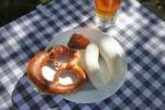Thumbnail Bavarian Weisswurst veal sausages and pretzels, Upper Bavaria, Bavaria, Germany, Europe