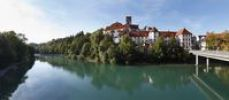 Thumbnail St. Mang Basilica and Lech river, Fussen, Ostallgaeu, Allgaeu, Swabia, Bavaria, Germany, Europe