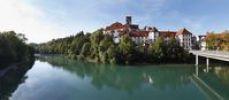 Thumbnail St. Mang Basilica and Lech river, Fussen, Ostallgaeu, Allgaeu, Swabia, Bavaria, Germany, Europe