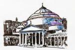 Thumbnail San Francesco di Paola church, Naples, Italy, drawing by Gerhard Kraus, Kriftel