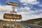 Thumbnail Sign for Timanfaya National Park, Lanzarote, Canary Islands, Spain, Europe