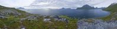 Thumbnail Fjord landscape, panoramic view, Tunhovdfjorden, Dalen, Norway, Europe