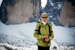 Thumbnail Woman hiking at the Drei Zinnen peaks in South Tyrol, Dolomites, Alps, Italy, Europe