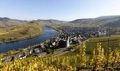 Thumbnail Overlooking Bremner with a Moselle bend, Landkreis Cochem-Zell district, Rhineland-Palatinate, Germany, Europe
