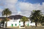 Thumbnail White houses and palm trees in Yaiza, Lanzarote, Canary Islands, Spain, Europe