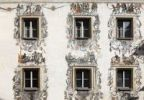 Thumbnail Wall paintings on the rear facade of the Hirschenhaus building, Berchtesgaden, Berchtesgadener Land, Upper Bavaria, Bavaria, Germany, Europe