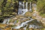 Thumbnail Waterfall in Weissbachschlucht gorge near Weissbach on the Alpine Road, Berchtesgadener Land district, Upper Bavaria, Germany, Europe