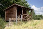 Thumbnail Observation hut on lake Dieksee, Bad Malente-Gremsmuehlen, Holstein Switzerland Nature Park, Schleswig-Holstein, Germany, Europe