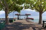 Thumbnail Landing stage at Vevey, Lake Geneva, canton of Vaud, Switzerland, Europe