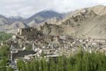 Thumbnail Overlooking the town of Leh on the mountainside, old royal palace, Ladakh region, Jammu and Kashmir, India, South Asia