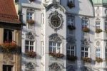 Thumbnail Facades, Steuerhaus building and and city hall right, marketplace, Memmingen, Allgaeu, Bavaria, Germany, Europe