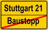 Thumbnail City limits sign, symbolic image, construction freeze, proponents of the Stuttgart 21 project