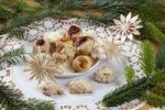 Thumbnail Christmas cookies, macaroons, Bethmaennchen, little Bethmann pastries, nut biscuits, Christmas decoration