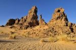 Thumbnail Sandstone rock formation on Tasset Plateau, Tassili n'Ajjer National Park, Unesco World Heritage Site, Wilaya Illizi, Algeria, Sahara, North Africa
