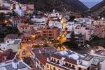 Thumbnail Vallehermoso at dusk, La Gomera, Canary Islands, Spain, Europe