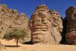Thumbnail Sandstone rock formation at Tikobaouine, Tassili n'Ajjer National Park, Unesco World Heritage Site, Wilaya Illizi, Algeria, Sahara, North Africa