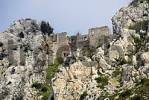 Thumbnail Ruin of crusaders castle St. Hilarion surrounded by rocks North Cyprus