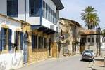 Thumbnail Old Turkish architecture with bays at the Dervish Pasha Houses in the streets of old town Lefkosa Nicosia North Cyprus