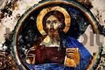 Thumbnail Byzantine wall painting Jesus Christ Pantokrator in monastery Antifonitis North Cyprus