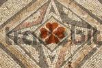 Thumbnail Colourful mosaic floral and geometric pattern at archaeological site of early Christian basilica Agia Trias North Cyprus