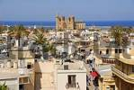 Thumbnail View of the city and former St. Nicholas Cathedral now Lala Mustapha Pasha Mosque Famagusta Gazimagusa North Cyprus