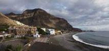 Thumbnail Beach in La Playa, La Calera at the top left, Valle Gran Rey, La Gomera island, Canary Islands, Spain, Europe