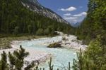 Thumbnail Upper reaches of the Isar River in Hinterautal valley, Karwendel Mountains, Alps, Tyrol, Austria, Europe