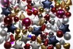 Thumbnail Christmas decorations, various Christmas tree balls, baubles