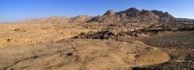 Thumbnail Granite landscape in the Hoggar, Ahaggar Mountains, Wilaya Tamanrasset, Algeria, Sahara, North Africa