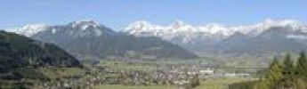 Thumbnail Haller Mauern mountain chain and the city of Admont, Gesaeuse mountain region, Styria, Austria, Europe