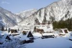 Thumbnail Village, traditional housing, winter, in Shirakawa-go, Gifu, Japan, Asia