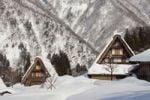 Thumbnail Village, traditional housing, winter, in Shirakawa-go, Gifu, Japan, Asia