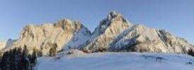 Thumbnail Treffneralm alp and Reichenstein mountain, 2251m, at sunrise, Gesaeuse mountains, Styria, Austria, Europe