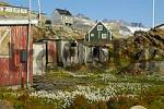 Thumbnail Run down settlement in summer Tiniteqilaaq Eastgreenland