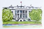 Thumbnail White House, residence of the President of the United States, Washington, USA, North America, drawing by Gerhard Kraus, Kriftel, Germany