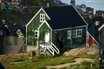 Thumbnail Old green wooden house settlement Ammassalik Eastgreenland