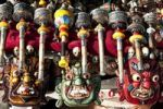 Thumbnail Tibetan Buddhism, colorful Tibetan masks, prayer wheels, souvenirs, Lhasa, Himalaya Range, central Tibet, Ue-Tsang, Tibet Autonomous Region, People's Republic of China, Asia