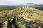 Thumbnail Basalt outcrop with horizontal basalt columns, Geotop Hirtstein, Erzgebirge, Saxony, Germany, Europe